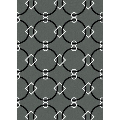 Franklin Grey Area Rug Rug Size: 3'3