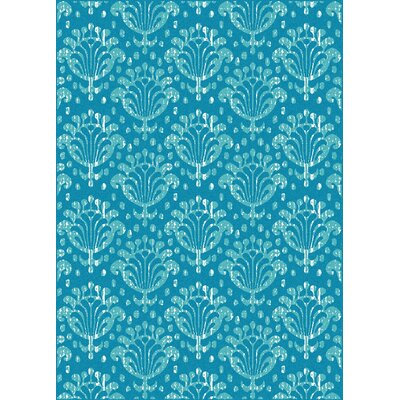 Franklin Turquoise Area Rug Rug Size: 55 x 77