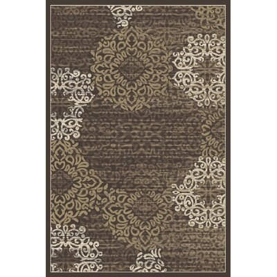 Ackermanville Brown Area Rug Rug Size: 53 x 73