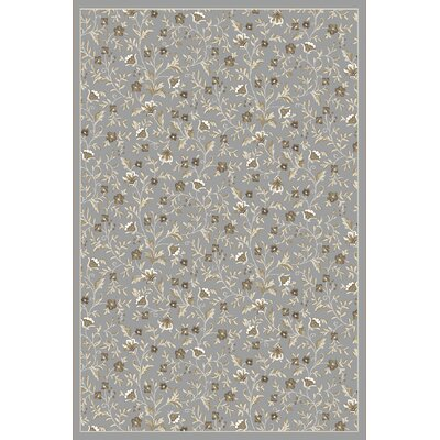 Ackermanville Gray Area Rug Rug Size: Round 53