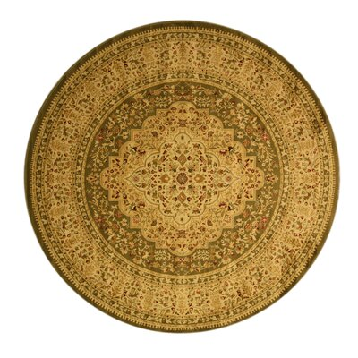 Madison Tan Area Rug Rug Size: Round 53