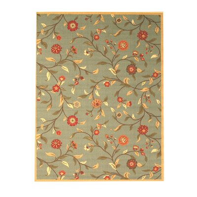 Woodstock Blue Area Rug Rug Size: 5 x 8