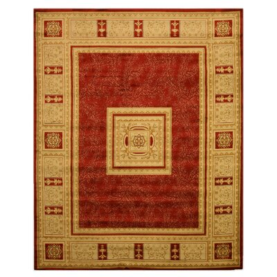Arlene Yellow/Red Area Rug Rug Size: 52 x 72