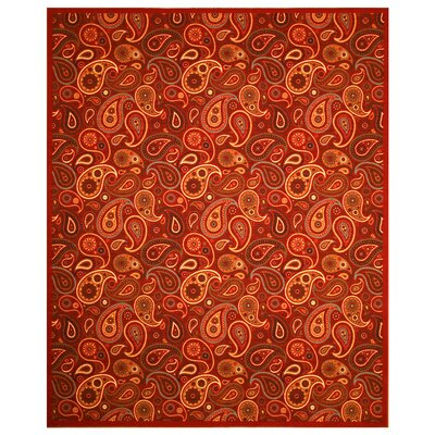 Woodstock Red Area Rug Rug Size: 5 x 66