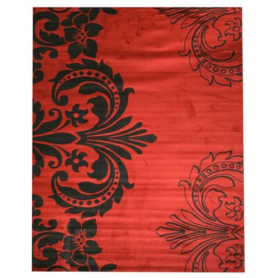 Fairmount Red Area Rug Rug Size: 710 x 910