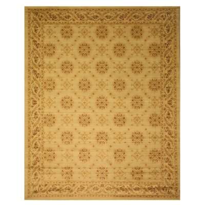 Cromwell Beige Area Rug Rug Size: 92 x 123