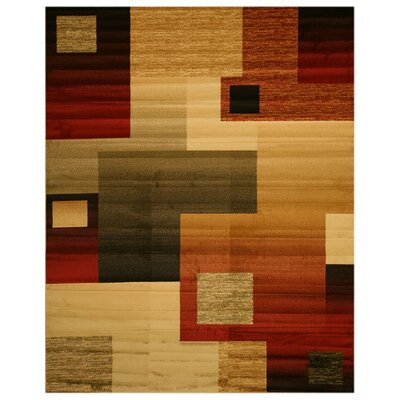 Strathmore Brown/Red Area Rug Rug Size: 53 x 73