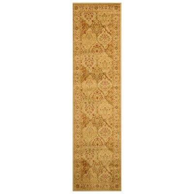 Pomfret Gold Area Rug Rug Size: Runner 27 x 910