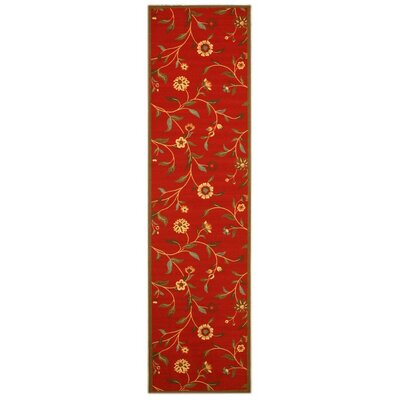Woodstock Red Area Rug Rug Size: Runner 27 x 10