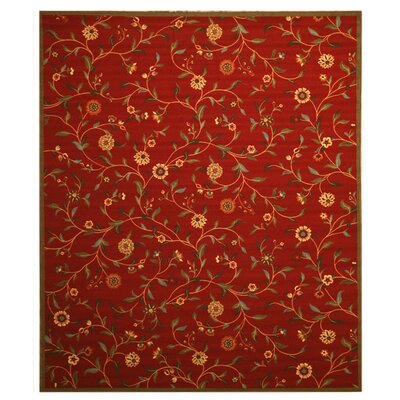 Woodstock Red Area Rug Rug Size: 53 x 73