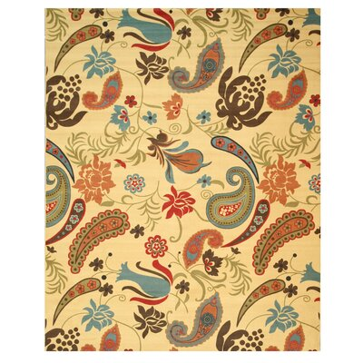 Ivory Area Rug Rug Size: 53 x 73