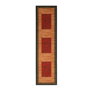 Kieran Red Area Rug Rug Size: Runner 27 x 910