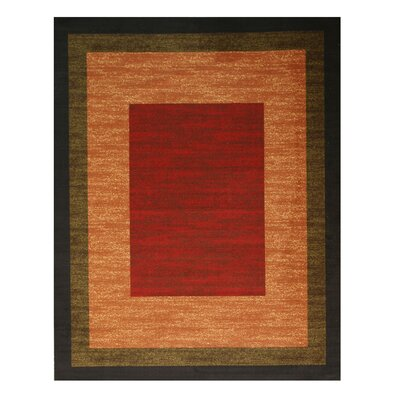 Kieran Red Area Rug Rug Size: 53 x 73