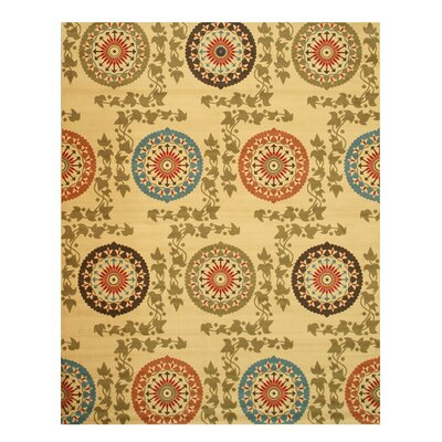 Tristian Ivory Area Rug Rug Size: 53 x 73