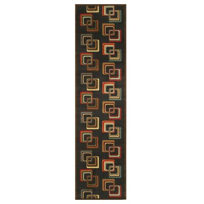 Ethridge Black Area Rug Rug Size: Runner 27 x 910