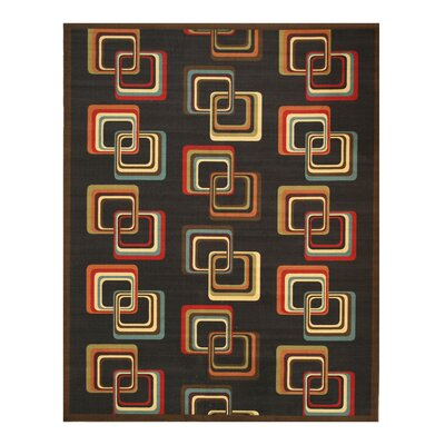 Ethridge Black Area Rug Rug Size: 53 x 73