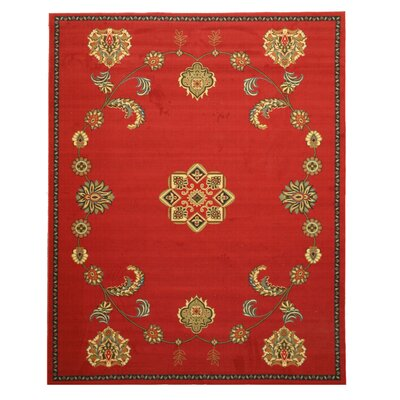Penelope Red Area Rug Rug Size: 710 x 910