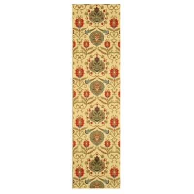 Canterbury Ivory Area Rug Rug Size: Runner 27 x 910