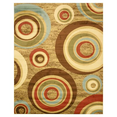 Henderson Beige Area Rug Rug Size: Rectangle 53 x 73