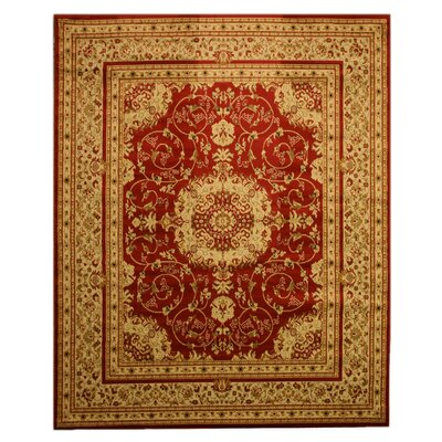 Taunton Red Area Rug Rug Size: 53 x 73