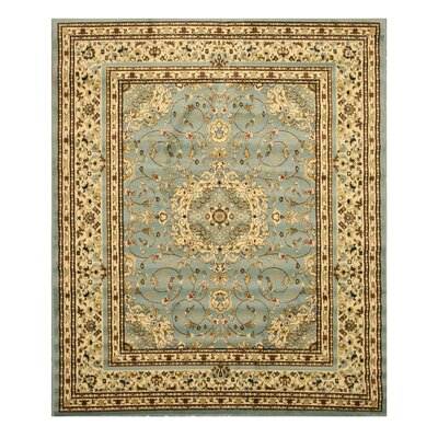 Falstaff Hand-Tufted Blue Area Rug Rug Size: 53 x 73