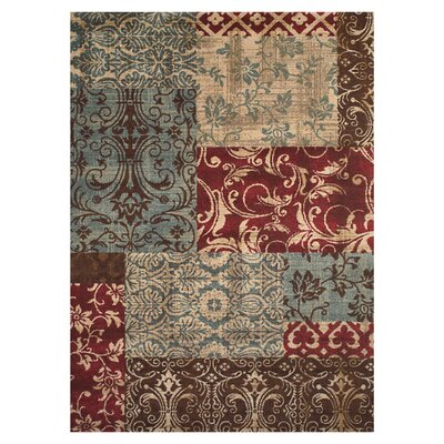 Kingsford Red/Gray Area Rug Rug Size: Rectangle 5 x 8
