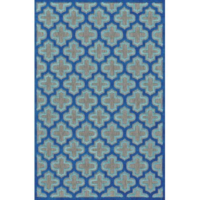 Harlow Blue Indoor/Outdoor Area Rug Rug Size: Round 79