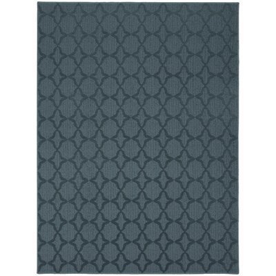 Edith Blue Area Rug Rug Size: 7'6