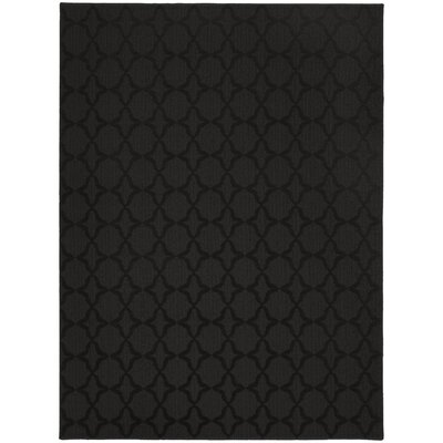 Blase Black Area Rug Rug Size: Rectangle 76 x 96