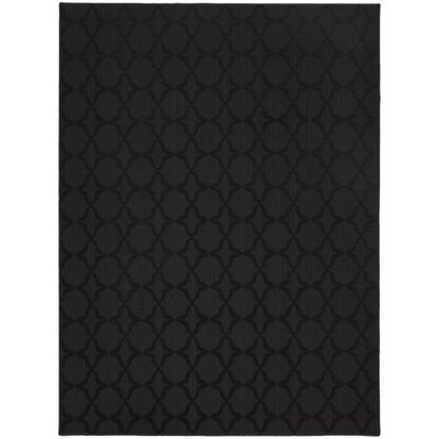 Blase Black Area Rug Rug Size: Rectangle 5 x 7