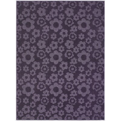 Suzanne Purple Indoor/Outdoor Area Rug Rug Size: 76 x 96
