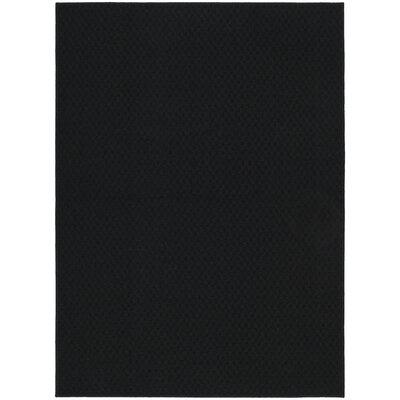Belgica Black Area Rug Rug Size: Rectangle 5 x 7