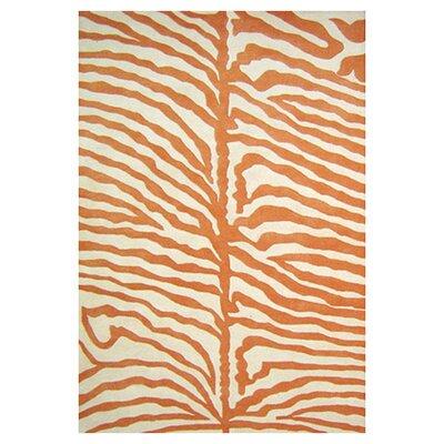 Hawthorne Hand-Woven Orange Area Rug Rug Size: 5 x 8