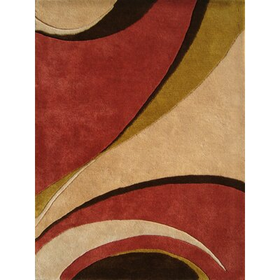 Saratoga Hand-Woven Red/Beige Area Rug Rug Size: 5 x 8