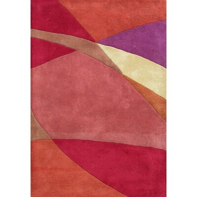 Earnestine Hand-Woven Pink/Red Area Rug Rug Size: 5 x 8