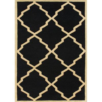 Jamestown Hand-Woven Black Area Rug Rug Size: 8 x 10