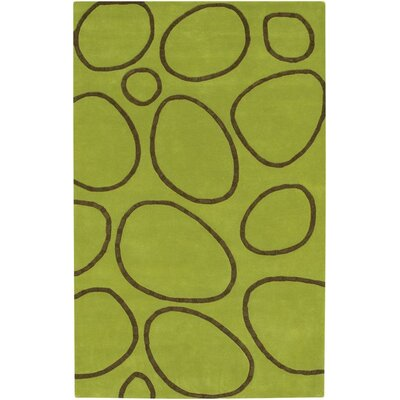 Jamestown Hand-Woven Green Area Rug Rug Size: 5 x 8