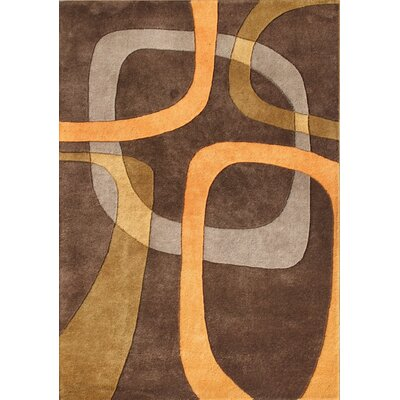 Pompey Hand-Tufted Brown Area Rug Rug Size: 5 x 8