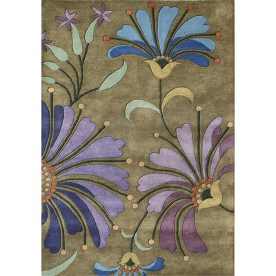 Pompey Hand-Tufted Green Area Rug Rug Size: 5 x 8