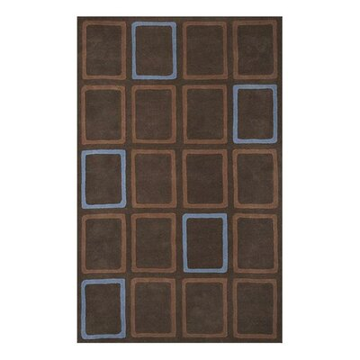 Clyde Hand-Woven Brown Area Rug Rug Size: 5 x 8