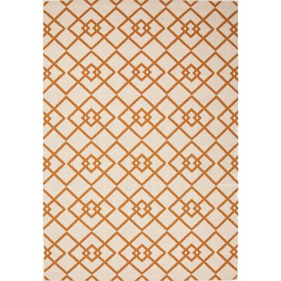 Somers Hand-Hooked Taupe/Orange Indoor/Outdoor Area Rug Rug Size: 2 x 37