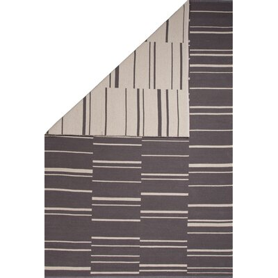 Winchester Hand-Woven Gray/Beige Area Rug Rug Size: 5 x 8