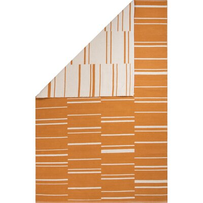 Winchester Hand-Woven Cheddar/White Area Rug Rug Size: 2 x 3