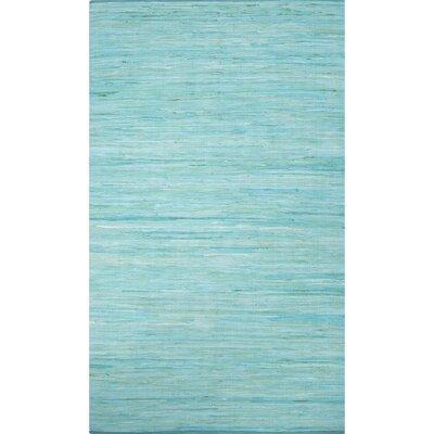 Keiu Modern Hand-Woven Blue Area Rug Rug Size: Rectangle 9 x 12