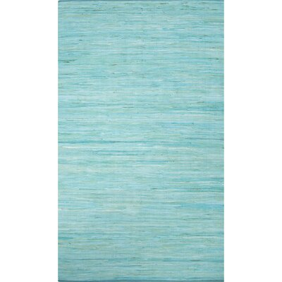 Keiu Modern Hand-Woven Blue Area Rug Rug Size: Rectangle 4 x 6