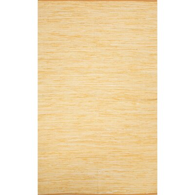 Keiu Hand-Woven Buff Yellow Area Rug Rug Size: Rectangle 9 x 12