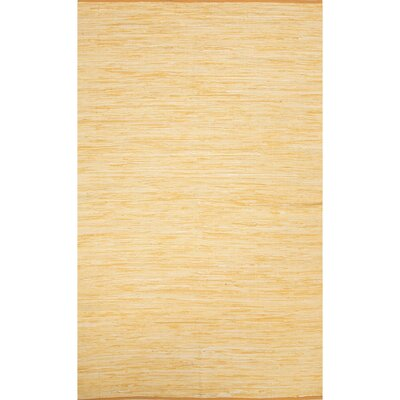 Newman Hand-Woven Buff Yellow Area Rug Rug Size: 4 x 6