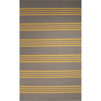 Winchester Hand-Woven Gray/Yellow Area Rug Rug Size: 8 x 11