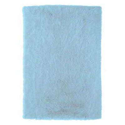 Samantha Hand-Tufted Faux Sheepskin Blue Area Rug Rug Size: Rectangle 3 x 5