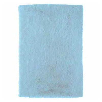 Samantha Faux Sheepskin Blue Area Rug Rug Size: 5 x 7